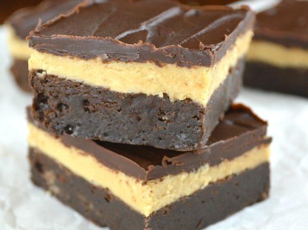 Dark Chocolate Peanut Butter Truffle Brownies