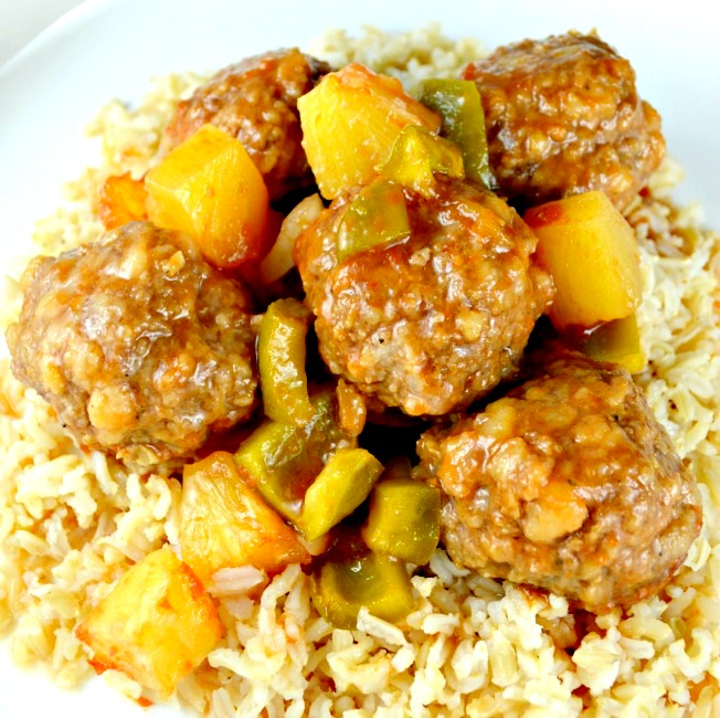 Easy Baked Sweet and Sour Meatballs
