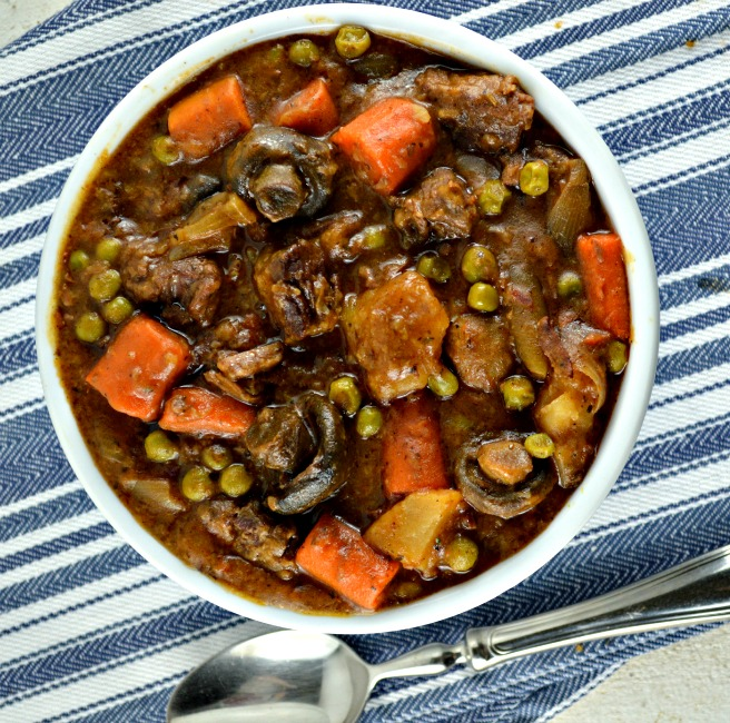 Crock Pot Beef Stew in a bowl