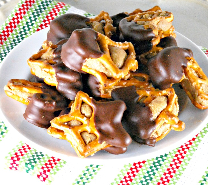 Peanut Butter Pretzel Bites on a plate