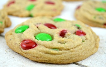 Soft Batch Holiday M&M Cookies