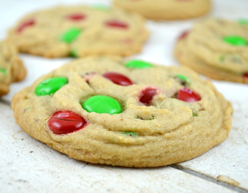 Soft Batch Christmas M & M Cookies