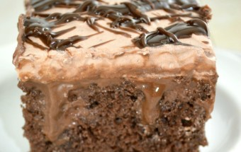 Quadruple Chocolate Poke Cake