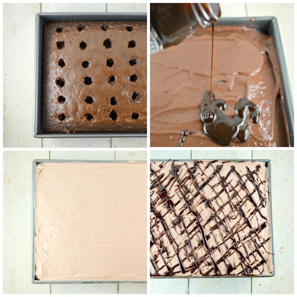 Quadruple Chocolate Poke Cake