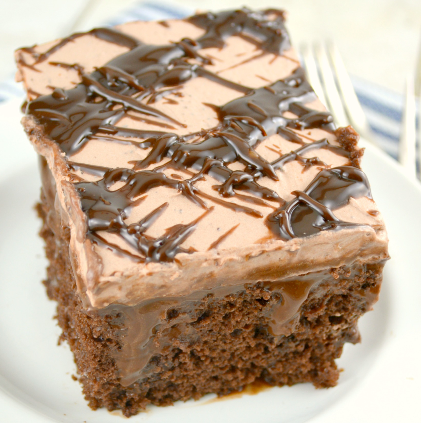 Recipe Baked Chocolate Fudge Cake