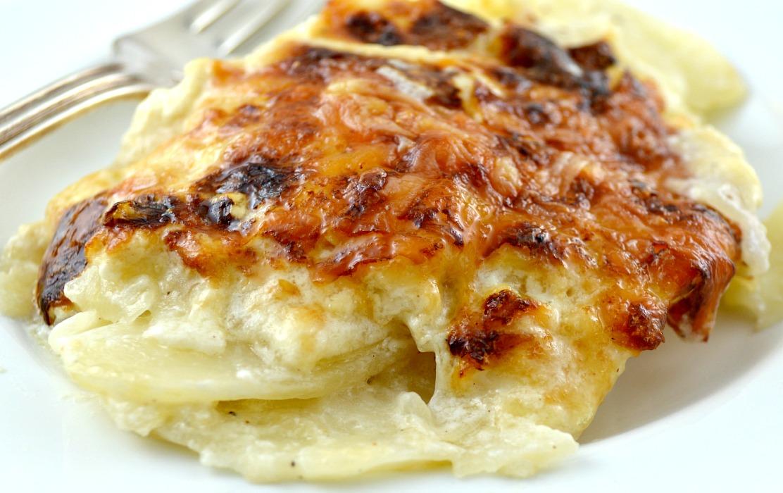 Potatoes Au Gratin on a plate