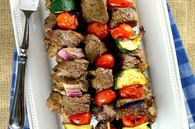 Shish Kabob on a plate