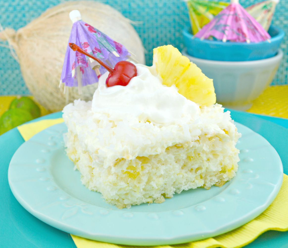 Pina Colada Sheet Cake Recipe