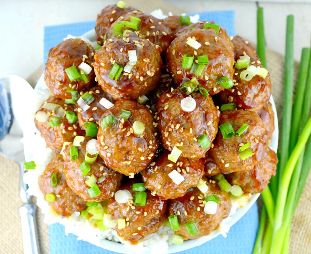 Teriyaki-Meatballs