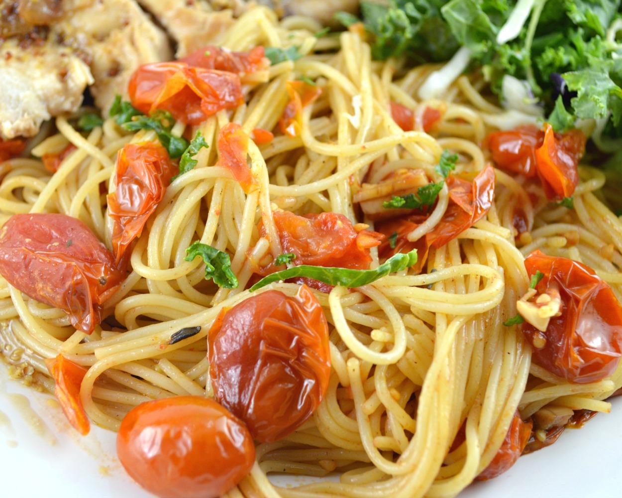 Slow-Roasted Tomato Sauce And Spaghetti