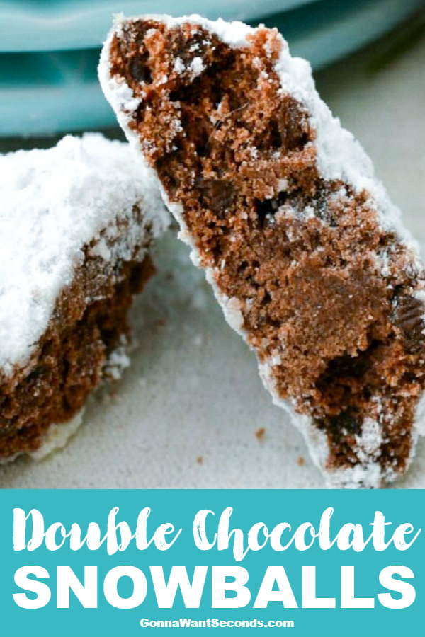 Our Double Chocolate Snowballs Cookies Are Rich, Tender, Double Chocolate Cookies That Aren't Too Sweet And Have A Luscious Thick Coating Of Powdered Sugar. #ChocolateSnowballCookies #Chocolate