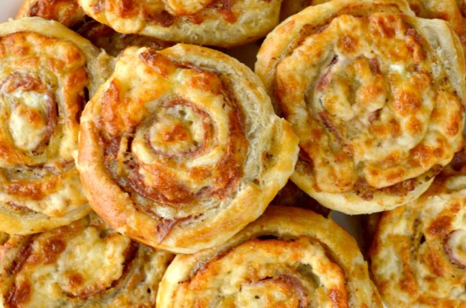 Cheesy French Pinwheels on a plate
