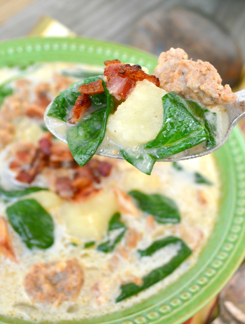 This Zuppa Toscana recipe is super easy to make and ready in 30 minutes. Every bite is loaded with goodies!