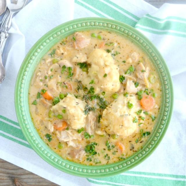 Slow Cooker Chicken And Dumplings 5 Insta