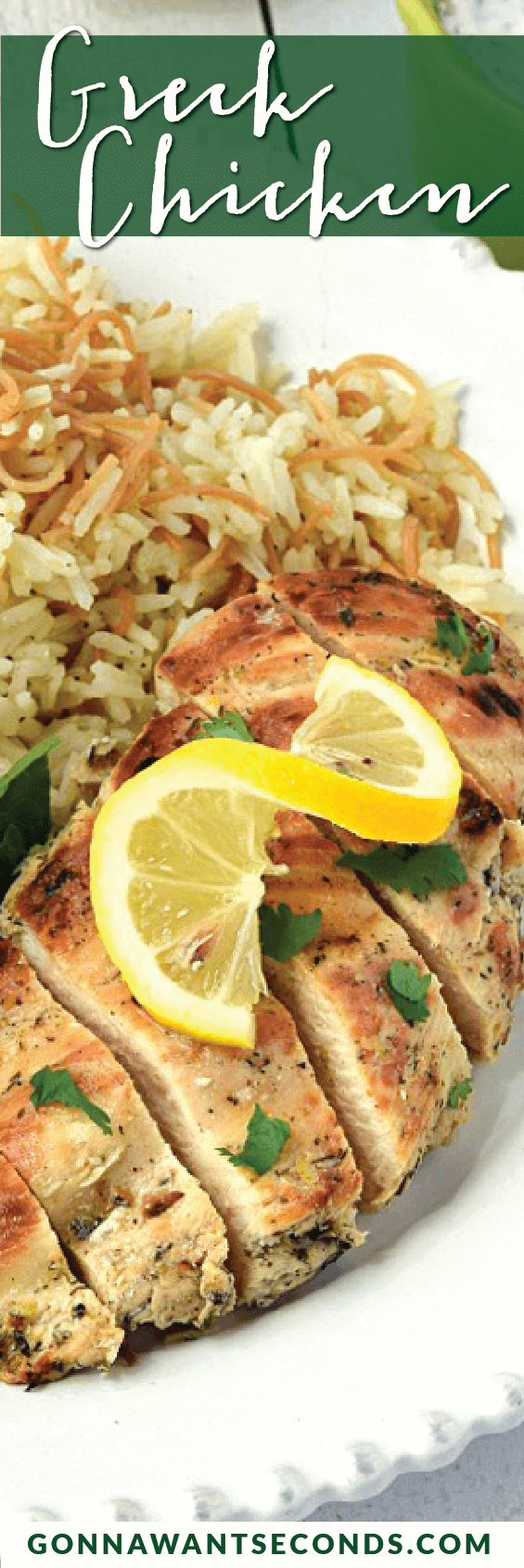 Delicious Greek Chicken. This recipe is quick and easy to put together and produce a healthy, fabulously flavored chicken. The hardest part of the recipe is planning ahead for the marinade time! This is a recipe you'll make again and again!