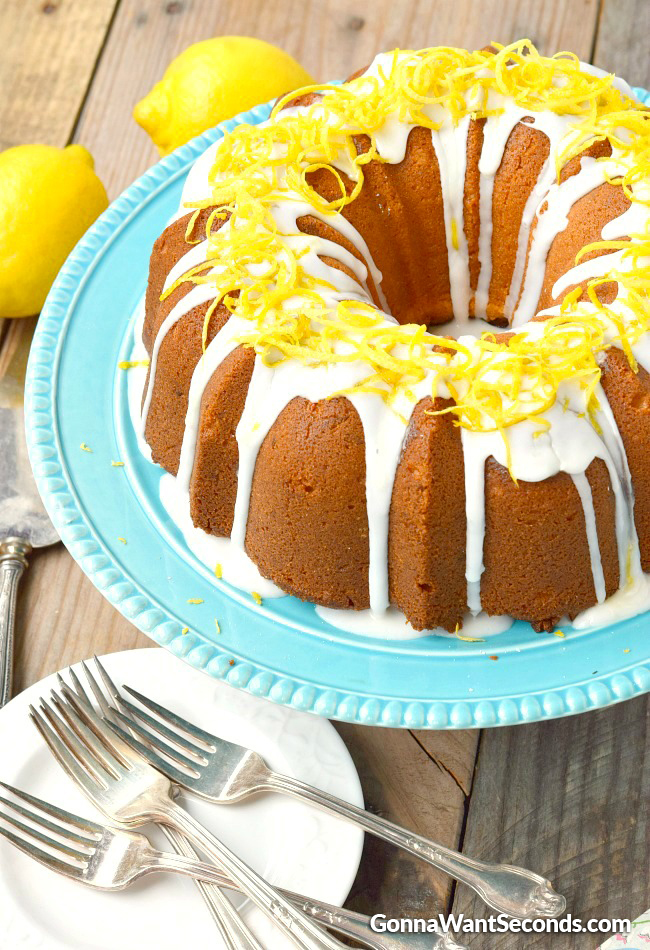 Lemon Cream Cheese Pound Cake 2