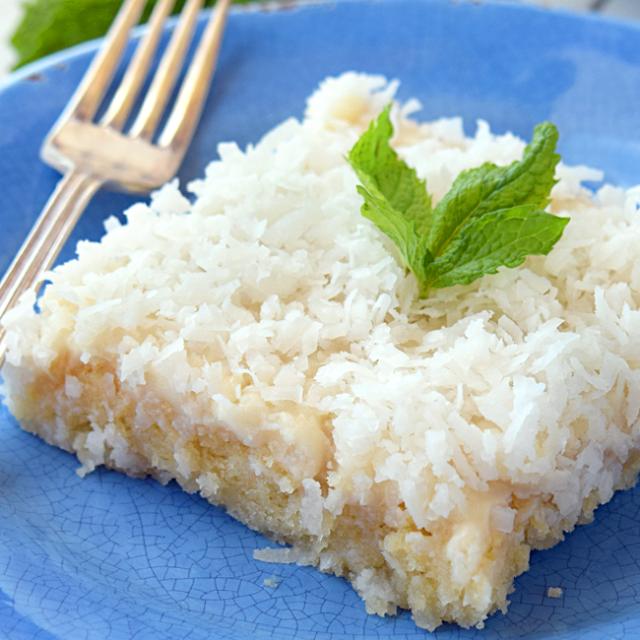 Sour Cream Coconut Sheet Cake
