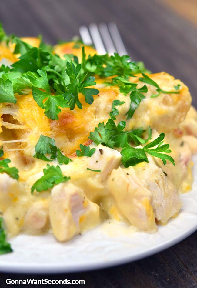 Chicken Tater Tot Casserole on a plate
