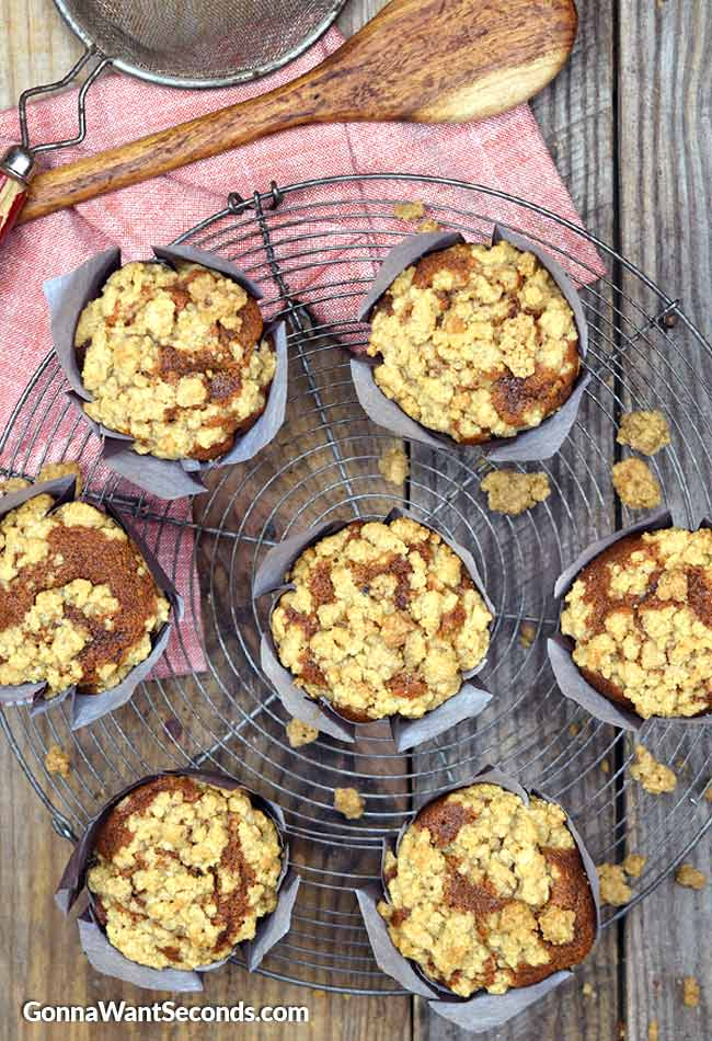 Gingerbread Muffins with Spiced Crumb Topping