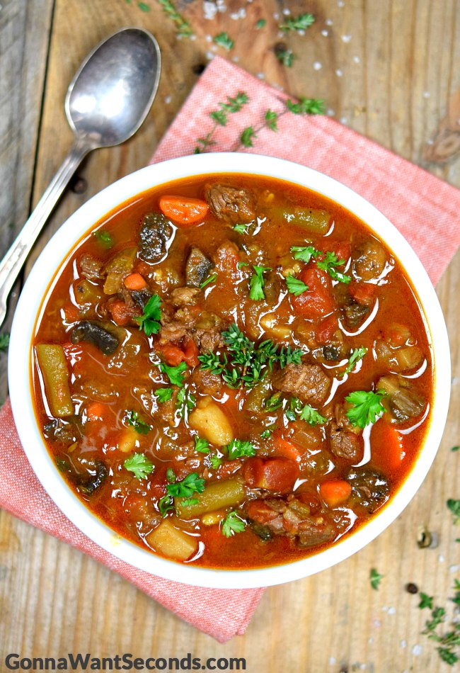 Vegetable Beef Soup - Gonna Want Seconds