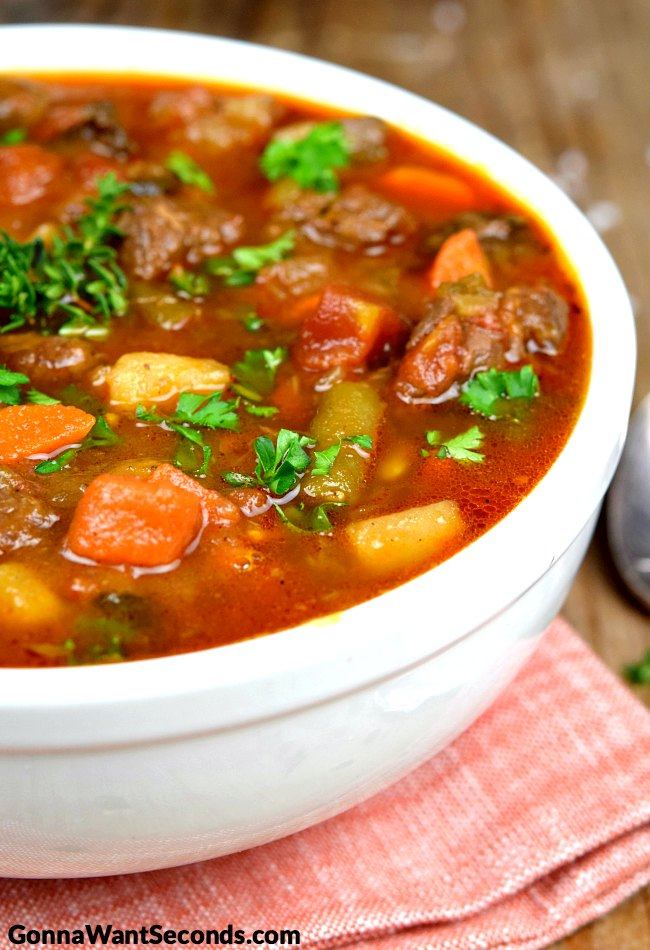 Vegetable Beef Soup Old Fashioned Taste In Every Spoonful