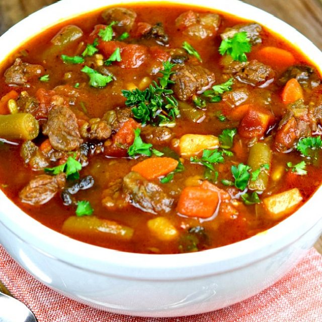Vegetable Beef Soup (With Video!)