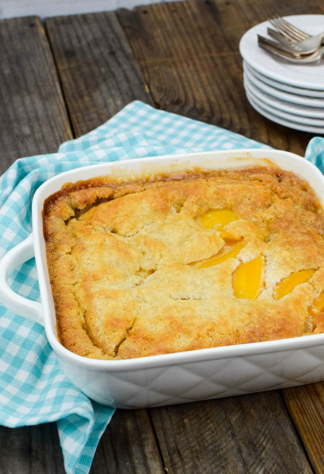 Quick And Easy Peach Cobbler With Cake Mix