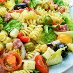 Antipasto Salad on a platter, close up