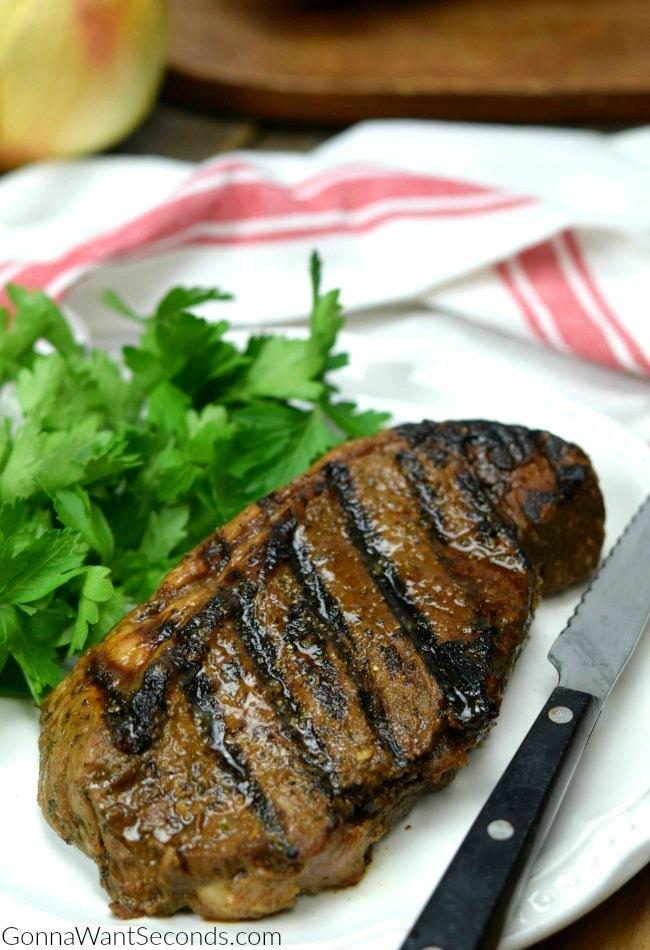 A Medium Rare Steak Marinated in The Best Steak Marinade