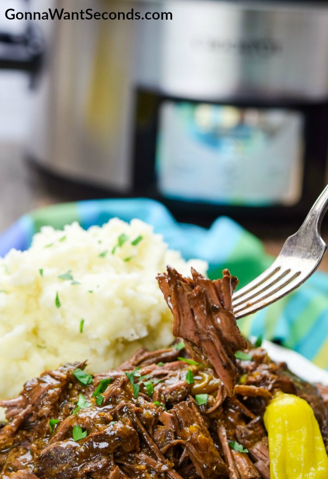 Easy Crock Pot Mississippi Pot Roast