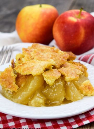 Apple Dump Cake on a plate