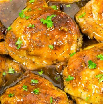 One Pan Honey Garlic Chicken Recipe #honeygarlicchicken #chicken #Dinner #onepan