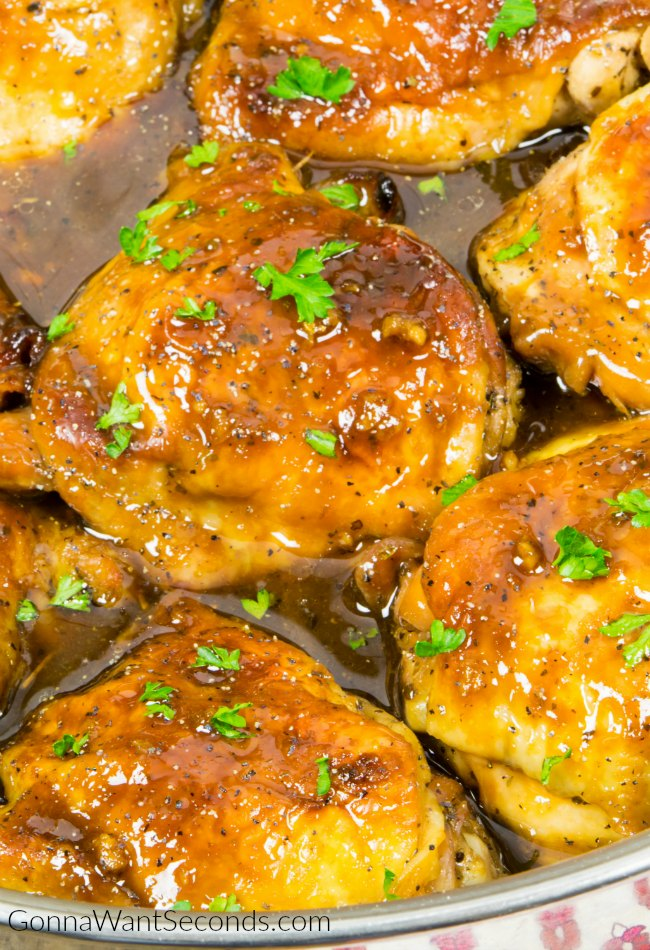 One Pan Honey Garlic Chicken Recipe #honeygarlicchicken #chicken #Dinner #onepan