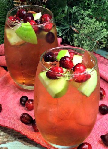 Cranberry Apple Bourbon Cocktail