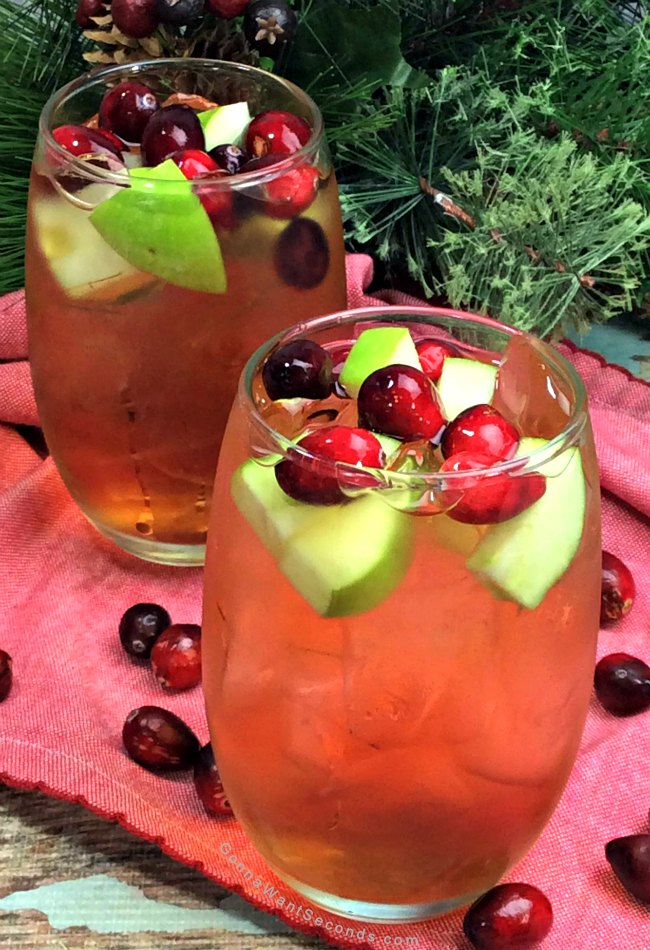 Cranberry Apple Bourbon Cocktail
