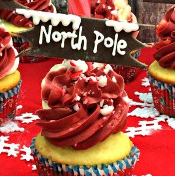 North Pole Cupcakes