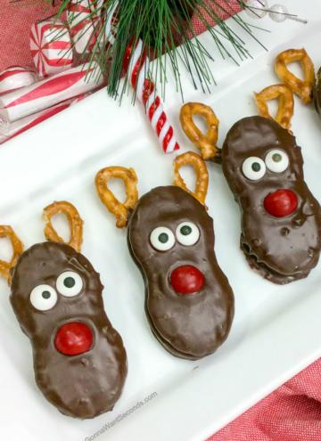 Reindeer Nutter Butter Cookies