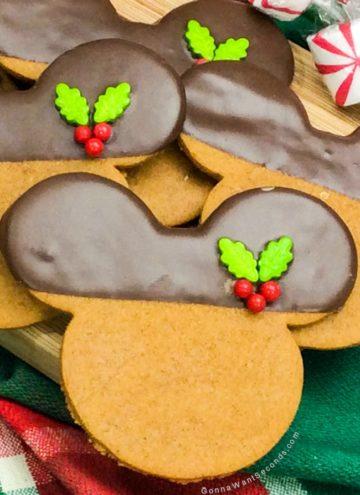 Gingerbread Mickey Cookies