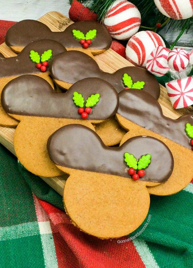 Mickey Gingerbread Cookies