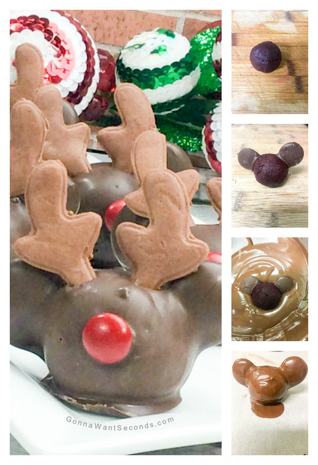 Mickey Reindeer Cake Pops