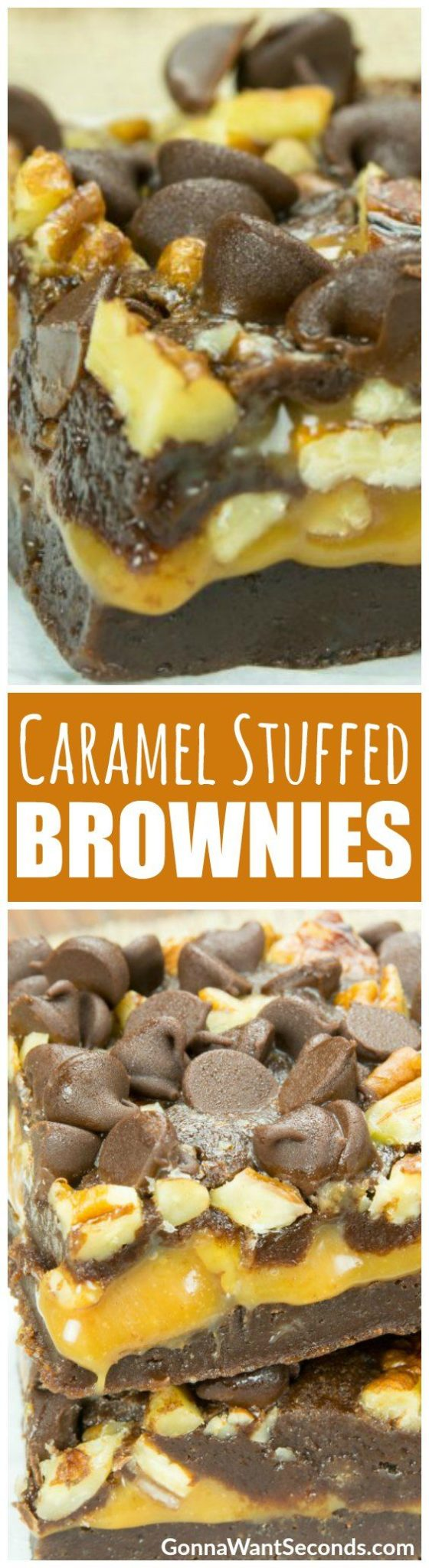 This is your ticket to brownie bliss – a rich, fudgy brownie wrapped around a thick, buttery caramel layer and topped with crisp pecans and chocolate chips. Bring on the sweet, sweet chocolate coma! #Chocolate #Caramel #Brownies #FromScratch #Recipe #Easy #Desserts #Gooey #Fudgy #ChocolateChips #Sweet #Treats #Pecans #Chewy #Layers #Simple #Bars #Baking