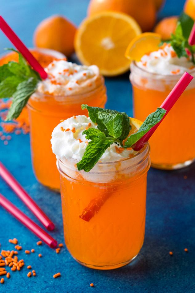Delicious Creamsicle Cocktail Recipe tastes just like a boozy version of the retro popsicle