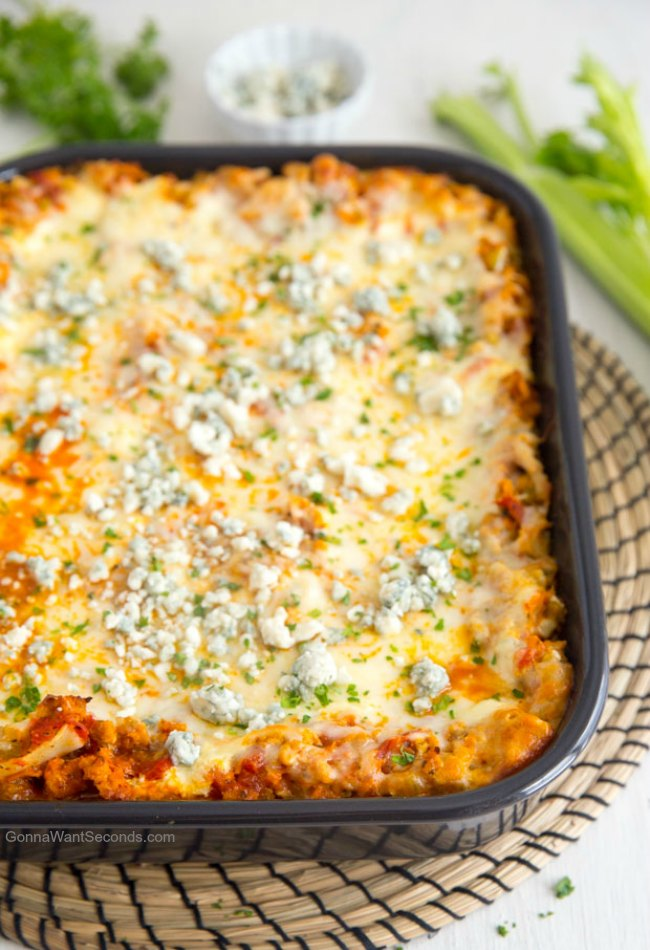 Easy Buffalo Chicken Lasagna