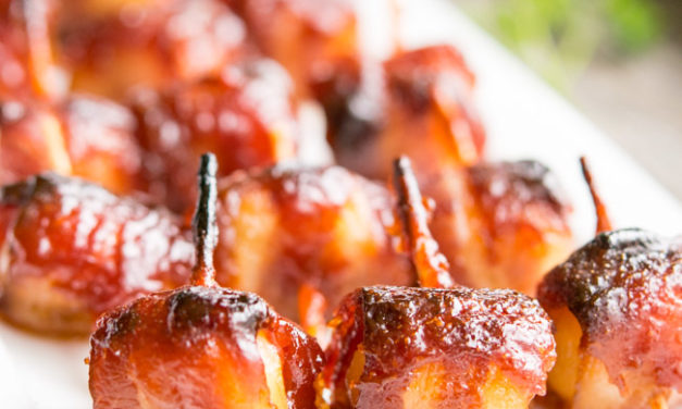 Bacon Wrapped Water Chestnuts-A Cocktail Classic