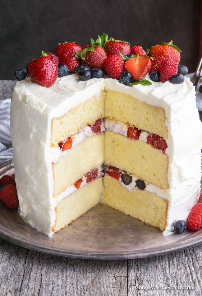 Cake Made With Eggs And Fruit