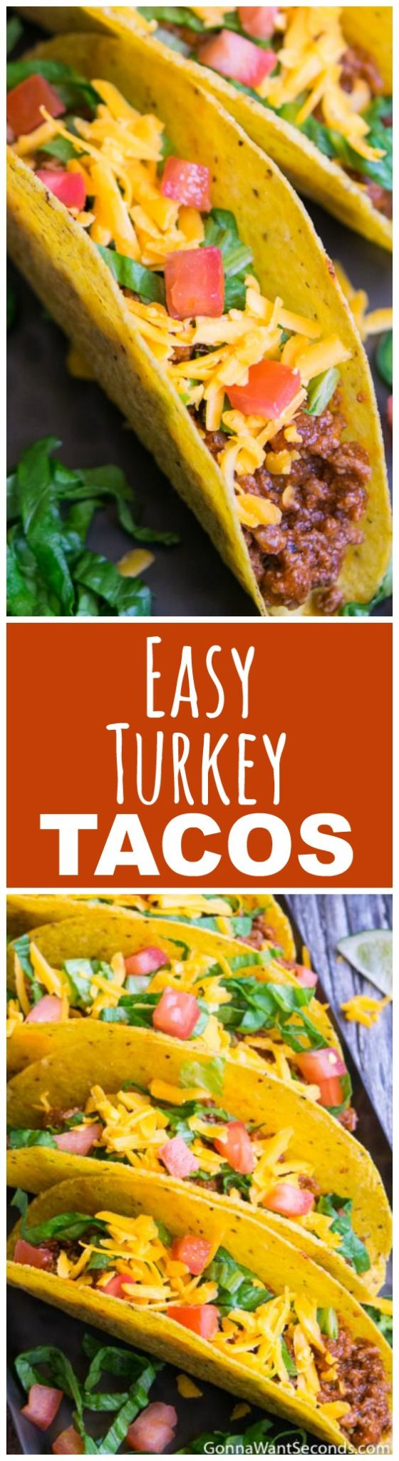 These healthy ground Turkey Tacos are so tasty and quick to put together ANY night can be taco night! Perfect for when you want a healthy delicious dinner ready in less than 20 minutes. The whole family will love these so skip the