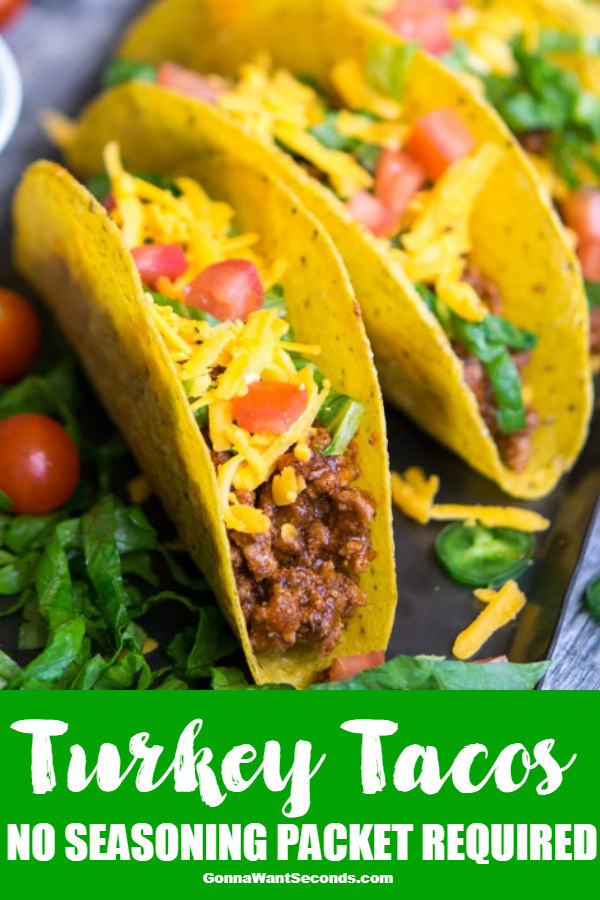 These healthy ground Turkey Tacos areso tasty and quick to put together ANY night can be taco night! Perfect for when you want a healthy delicious dinner ready in less than 20 minutes. The whole family will love these so skip the