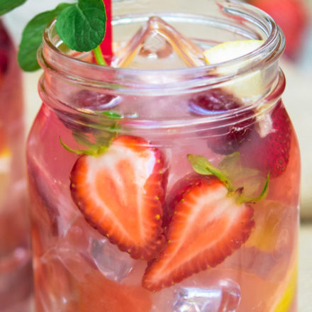 Hippie Juice in a mason jar with straw