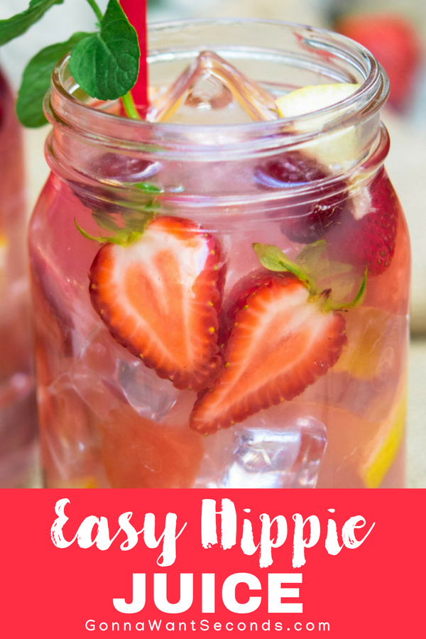 Our Hippie Juice recipe is the perfect simple, easy, refreshing summer drink for a party. It's fruity, fun, Big Batch cocktail perfect to make for a crowd! #Best #Hippie #Juice #Recipe #ForACrowd #Drink #Cocktails #ForAParty #Summer #Spring #HowToMake #Simple #Quick #Easy #Ideas #Fresh #MasonJars #Lemonade #Watermelon #Strawberry