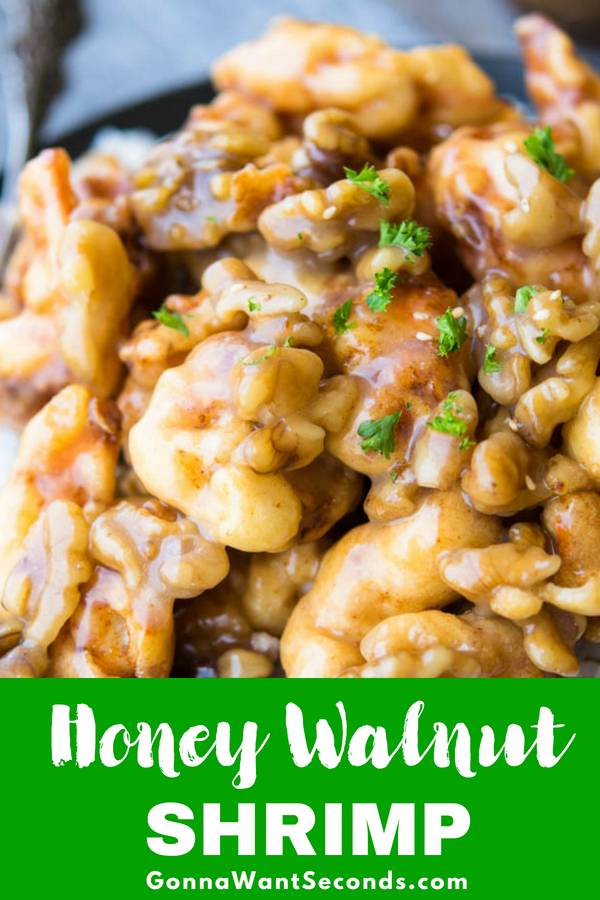 This Honey Walnut Shrimp is better than most restaurant versions. Generously battered shrimp, sweetened walnuts, and the sweet honey sauce is Mind Blowing! #Best #Honey #Walnut #Shrimp #Recipe #Easy #Chinese #Sauce #Crispy #Dishes #Food #Dinners #Meals #Cooking #Seafood #Sides #Families #Weeknight #Potlucks #Sweet